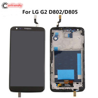 For LG G2 D802 D805 5 2 LCD Screen With Frame Display Touch Screen Replacement Digitizer