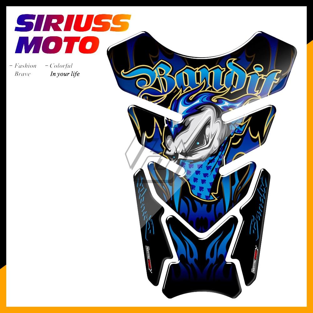 3D Motorcycle Tank Pad Gel Protector Sticker Bandit Tankpad Case For Suzuki Bandit 600 650 1200 1250 650S 600S ABS