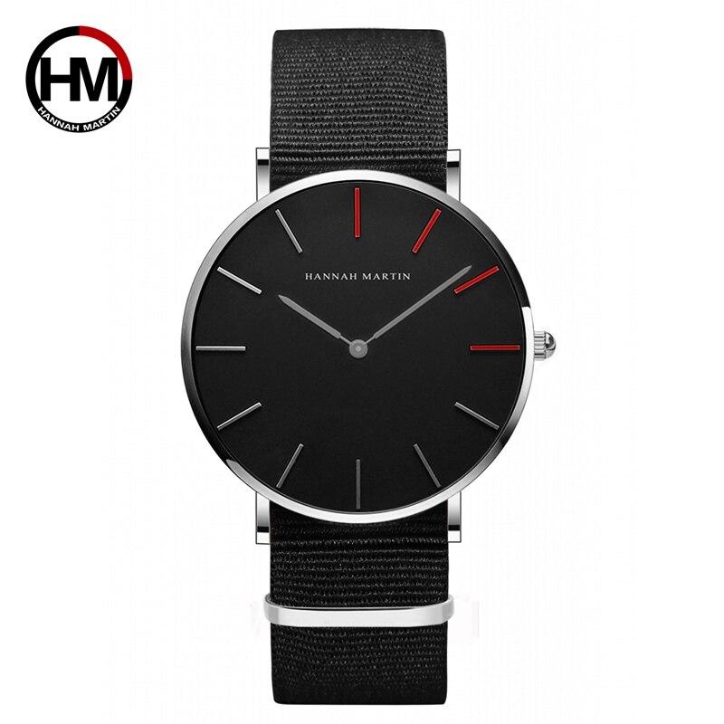 Couple Watch Men Women Watch Simple Waterproof Fashion Brand Black Nylon Sport Casual Watches Business Clock Unisex Lover Watch 4