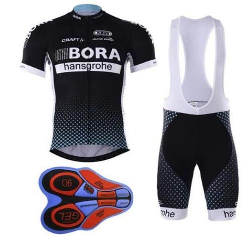 Radfahren jersey bora radfahren bib shorts Sommer Stil radfahren set Fahrrad Schnell Trocknend Kurzarm Atmungsaktive weise Pro Hemd