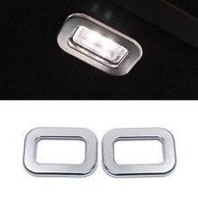Для Land Rover Range RR Спорт 14-17 автомобиль-Стайлинг ABS Матовый хром Хвост дверь свет лампы рамка крышка Аксессуары