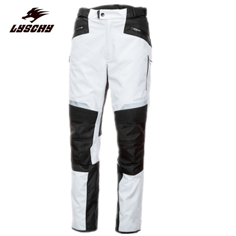 Men's Street Racing Windproof Motorcycle Oxford Cloth Trousers Motocross Riding Sports Pants with Removable Protector Guards