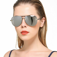 766c9694ae Gafas de sol clásicas gran tamaño con diseño marca 2017 para mujer, gafas  hombre. Fashion Classic Oversized Pilot Sunglasses Women 2017 New Brand  Design Sun ...