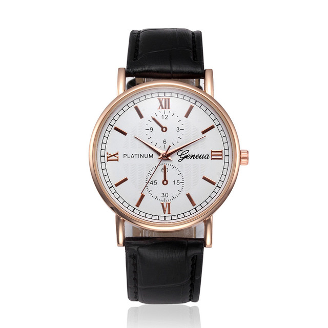 5108986e68b Relógios Dos Homens de negócios de Design Retro Pulseira De Couro Analógico  de Pulso de Quartzo