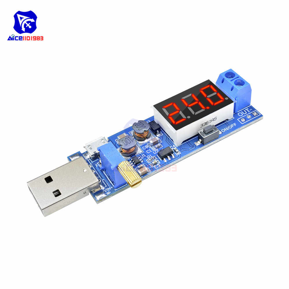 DC-DC 5V to 1.2 -24V Power Supply Module USB Step Up/Down Board Adjustable Converter 3 Bit LED Digital Tube Display Micro USB