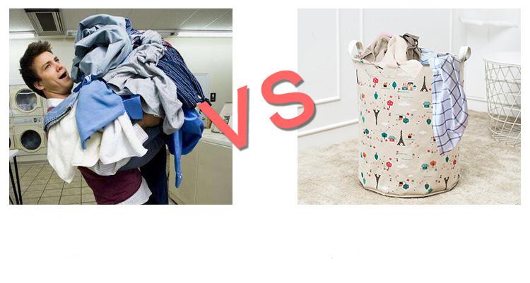 Laundry Basket 35*45 CM Sundries Storage Container Folding Storage Basket Toys Home Clothes Storage Bag Clothes Organizer 6