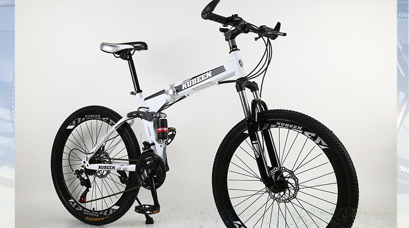 HTB199u6cb5YBuNjSspoq6zeNFXaC KUBEEN 26inch folding mountain bike 21 speed double damping bicycle double disc brakes mountain bike