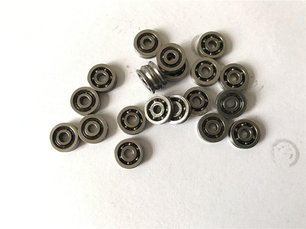 20 piezas V623ZZ Polea de rodamiento de bolas con ranura en V para sistema de movimiento lineal de v/ía de ferrocarril 3x12x4mm Rodamiento de ranura en V