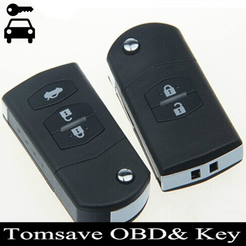 Free Shipping Folding Flip 315Mhz Alarm Remote Key Fob Key Case Replace Cover for Mazda M2