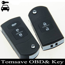 Envío Libre Plegable Del Tirón 315 Mhz de Alarma Clave Remoto Fob Clave Sustituya La Cubierta para Mazda M2 M3 M6 Después de 2009 año
