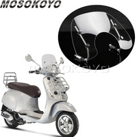 Scooter transparente moto windshield windscreen touring fly screen para vespa primavera 150 flyscreen