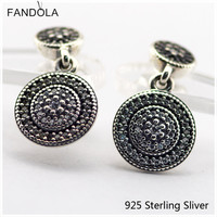 Compatible With European Style Jewelry 100 925 Sterling Silver Stud Earrings Radiant Elegance Original Charms CKK