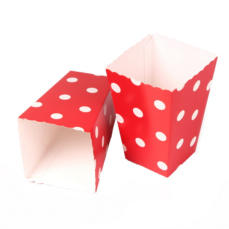mini party paper popcorn boxes candysanck favor bags wedding birthday movie party supplies 12pcs
