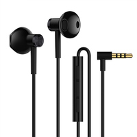 Original Xiaomi Mi Dual Driver MEM Microphone Tenacity Wire Control Half In Ear L Shape Plug