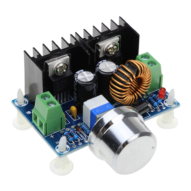 XL4016 XL4016E1 High Power DC Voltage Regulator DC-DC XH-M401 Buck Module with Maximum 8A Tire Voltage Regulator