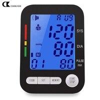CHANGKUN Chuyên Nghiệp Upper Arm Blood Pressure Monitor Chăm Sóc Sức Khỏe Tự Động Kỹ Thuật Số LCD Heart Beat Meter Máy Giọng Nói Trực Tiếp