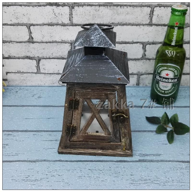 Nordic style countryside household lantern nostalgic cafe shop wedding festival Decoration living room table