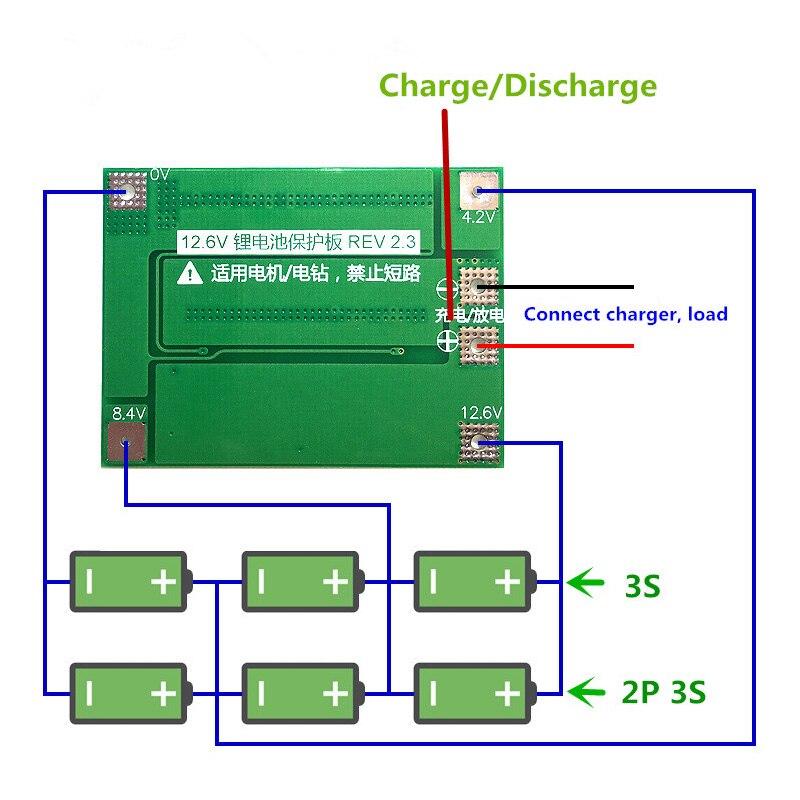 3 s 40A Li Ion Lithium Batterie Ladegerät Schutz Bord PCB BMS Für ...