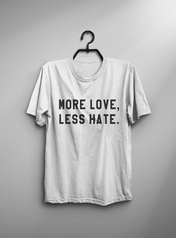 new & pre-owned designer discount coupon sale retailer US $4.79 20% OFF|More love less hate t shirts for women tshirts love shirts  gifts mens t shirt womens graphic tee Print valentines tops C825-in ...