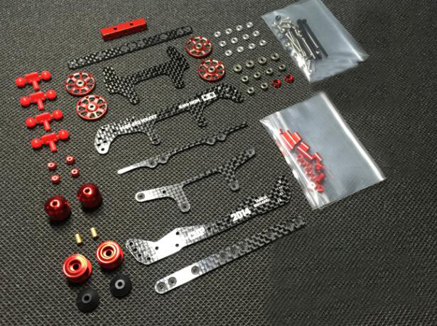 MS MSL Chassis Modify Parts Set for 1/32 Tamiya Mini 4WD Racing Car Model Carbon Fiber Plates Aluminum Guider Rollers ms msl chassis modify parts set for 1 32 tamiya mini 4wd racing car model carbon fiber plates aluminum guider rollers