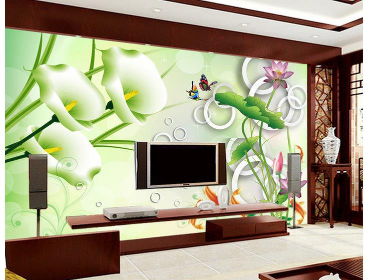 3D stereoscopic lotus redfish backdrop 3d wallpaper for room customized wallpaper for walls mural 3d wallpaper flowers butterflies stereoscopic 3d block large mural 3d wallpaper bedroom room backdrop painting three dimensional 3d wallpaper