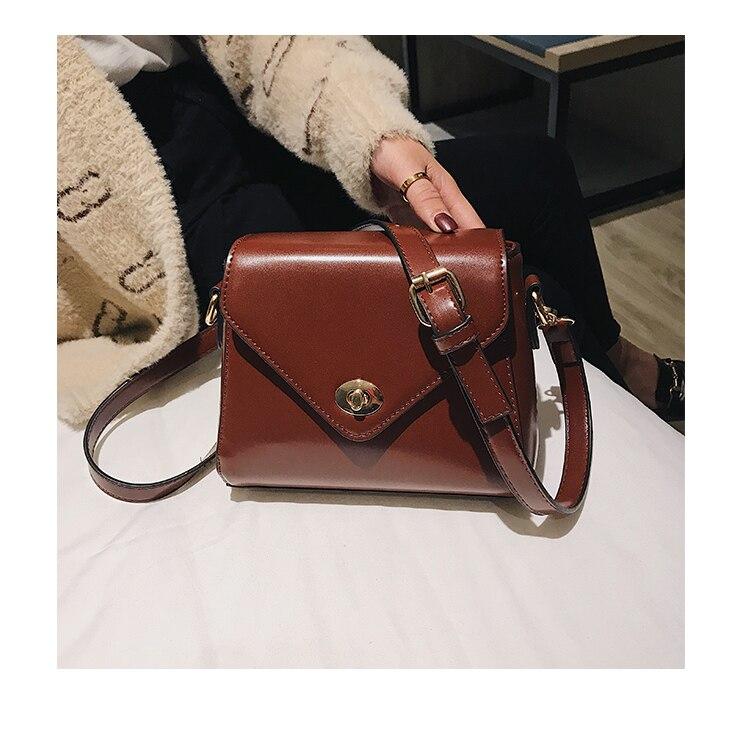 European Fashion Retro Ladies Square bag 2018 New High quality PU Leather Women's Designer Handbag Lock Shoulder Messenger Bags 11