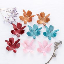 New Design Acrylic Big Flower Statement Dangle Earrings for Women Bohemian Charm Resin Petal Pendientes ZA Earrings Jewelry Gift(China)