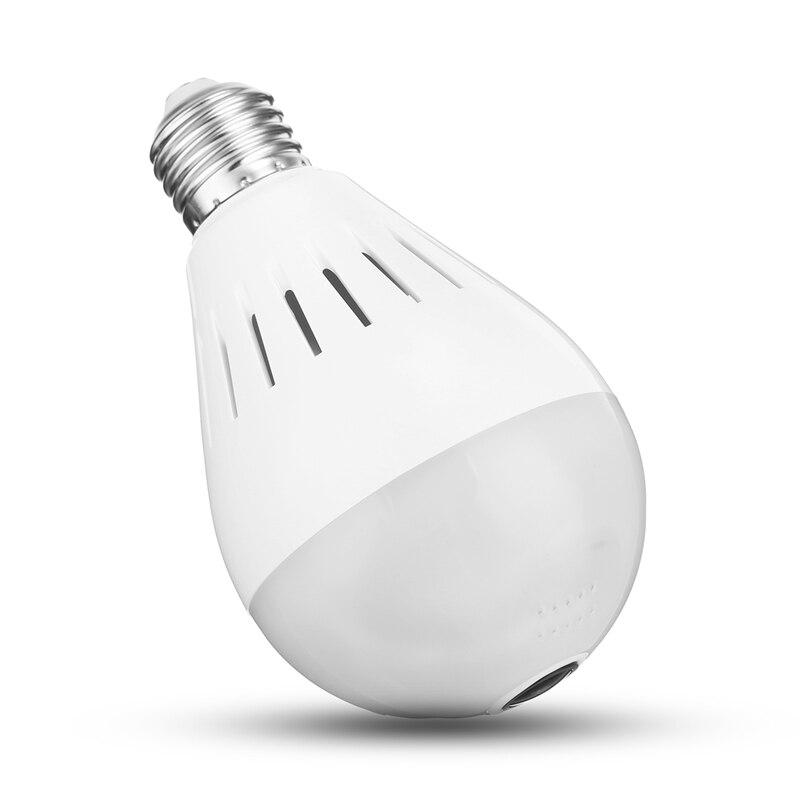 Grande Promotion oeil de poisson maison intelligente lampe à LED ampoule HD 360 degrés 128G panoramique sans fil WiFi IP caméra ampoule caméra de sécurité lampe