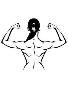YJZT Switch Sticker Decoration Fitness-Girl Children Vinyl 8SS2158 Gym Beautiful Health