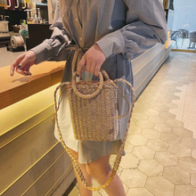 Hand-Woven Women Rattan Bag Straw Purse Handmade Wicker Crossbody Beach New