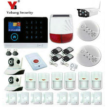 YobangSecurity Wireless Wifi GSM Android IOS APP Home Burglar Security Alarm System Outdoor Ip Camera with