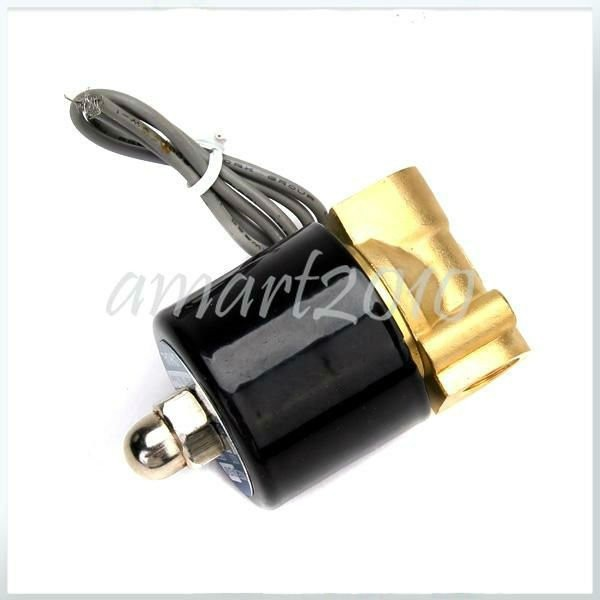 2 шт./партия, Электрический электромагнитный клапан постоянного тока 12 В 1/4 'для воздуха, воды, газа, дизельного топлива