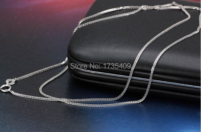 SOLID WHITE GOLD NECKLACE/CHINESE FOXTAIL CHAIN /1.98g / 42cm L foxtail