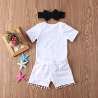 New Fashion Newborn Baby Girl Boy Clothes Set Sequins 3pcs Outfits Romper Top Pants Headband Clothes Set Jumpsuit 5