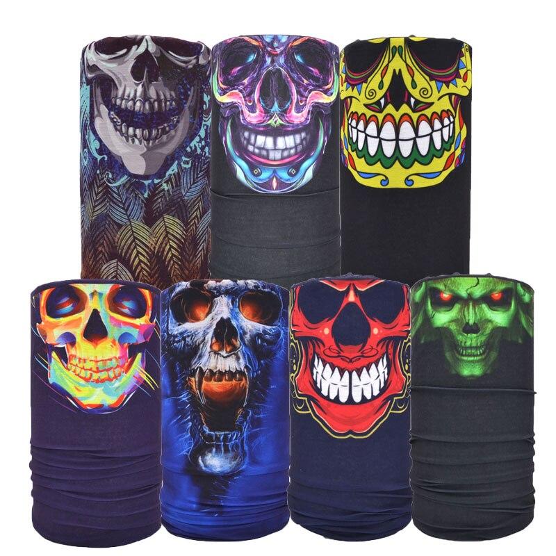 ФОТО 7 PCS/lot Seamless Multifunctional Skull Bandana Mask