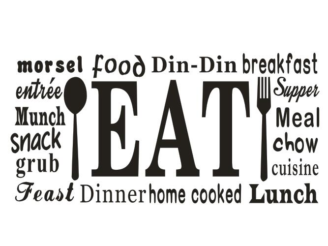 Kitchen vinyl wall decal food dinner feast chow kitchen - Stickers protection cuisine ...