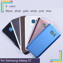 50Pcs/lot Original For Samsung Galaxy S7 G930 G930F G930FD SM-G390F Housing Battery Cover Back Cover Case Rear Door Chassis стоимость