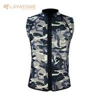 Layatone Wetsuit Vest Men 3mm Neoprene Camouflage Diving Suit Top Vest Surfing Snorkeling Fishing Suit Sleeveless Scuba Diving