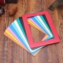 DIY Colorful Magnetic Photo Picture Frames Fridge Refrigerator Magnet Photoframe Home Living Room Decor 9 Colors