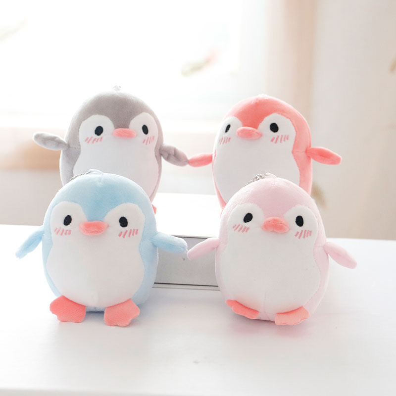 12cm Cute Penguin Plush Animals Doll Toys Small Size Pendant Plush Toys Key Chain Ring Pendant Plush Toys Kids Gift
