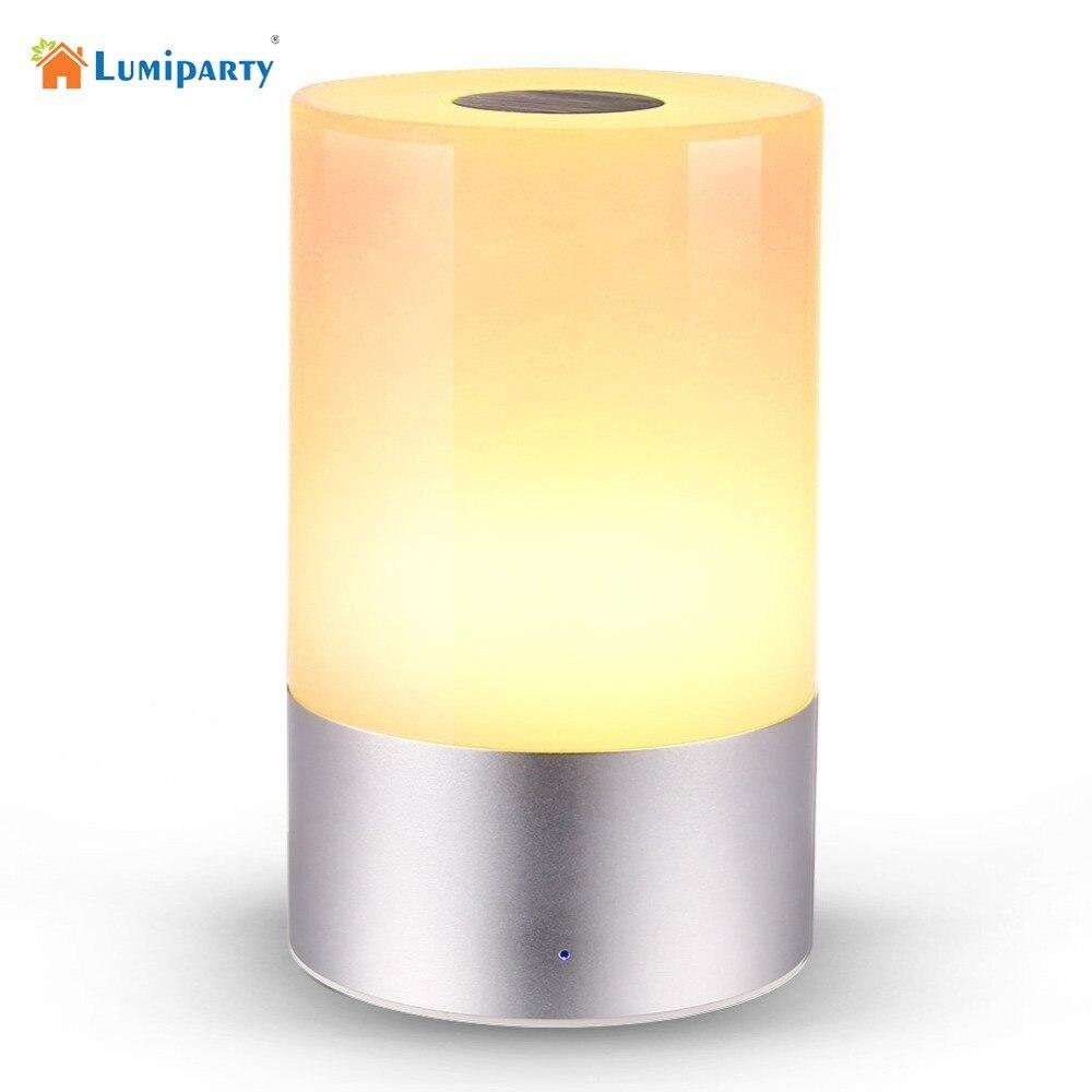 LumiParty Перезаряжаемые светодиодный ночники Цвет изменение атмосфера настроение ночник настольная Настольная лампа с регулируемой яркостью...