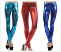 Leggings plus size 2016 fashion women casual Metal texture Candy color shining legging Fitness Dancing Pants cheap clothes china
