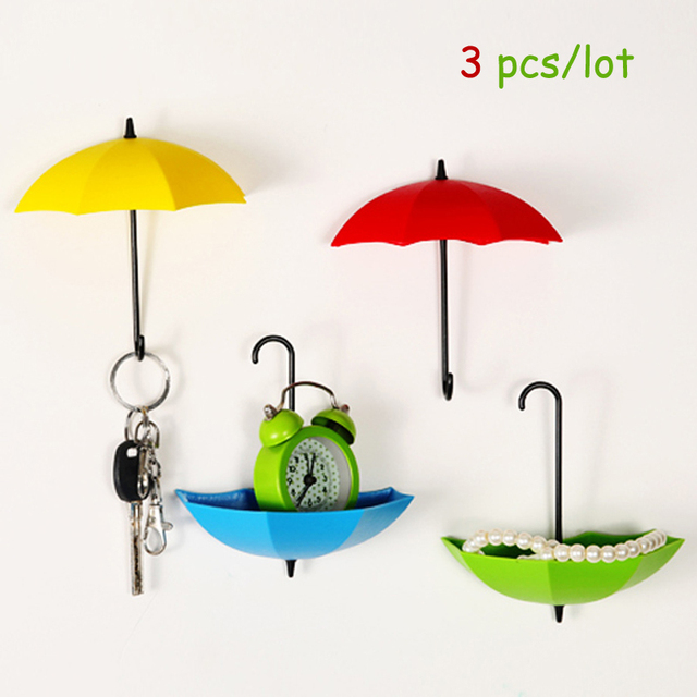 3pcs/lot Umbrella Wall Hook Decorative Hanger Christmas Gift Rack ...