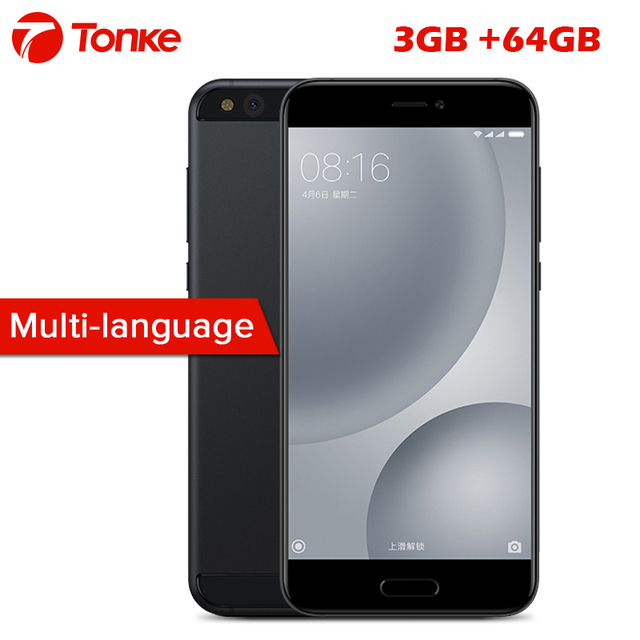 Original Xiaomi Mi5C 5.15'' Cell Phone Xiaomi S1 processor Octa core 1920x1080 3GB RAM 64GB ROM Fingerprint ID fast charge