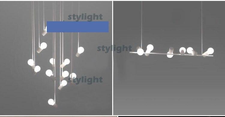 1 luce moderno design uccelli su albero tronco lampada a sospensione