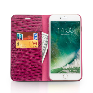 Image 4 - QIALINO for iphone 7 Genuine Leather Case for iphone 7 Plus Real Leather Luxury Women Crocodile Cover for 4.7/5.5 inches