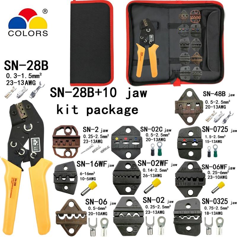 SN-02B TAB 0.25-2.5mm2 terminal crimping pliers tool car connector crimping tool