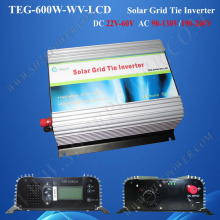 600W grid-tied inverter, grid tie solar power converter dc to ac, 24v 220v grid tie inverter solar with LCD