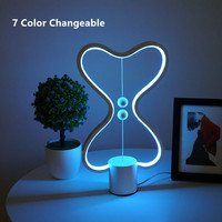 USB LED Heng Balance lamp for Living room Bedroom Bed Side heng lamp 7 Color changeable Reading heart Lampshade smart table lamp