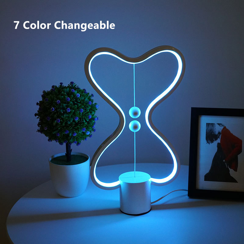 Well-Educated Usb Led Heng Balance Lamp For Living Room Bedroom Bed Side Heng Lamp 7 Color Changeable Reading Heart Lampshade Smart Table Lamp Led Table Lamps
